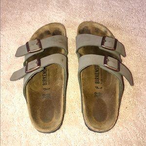 Birkenstock Arizona Two-Strap Sandal — Stone